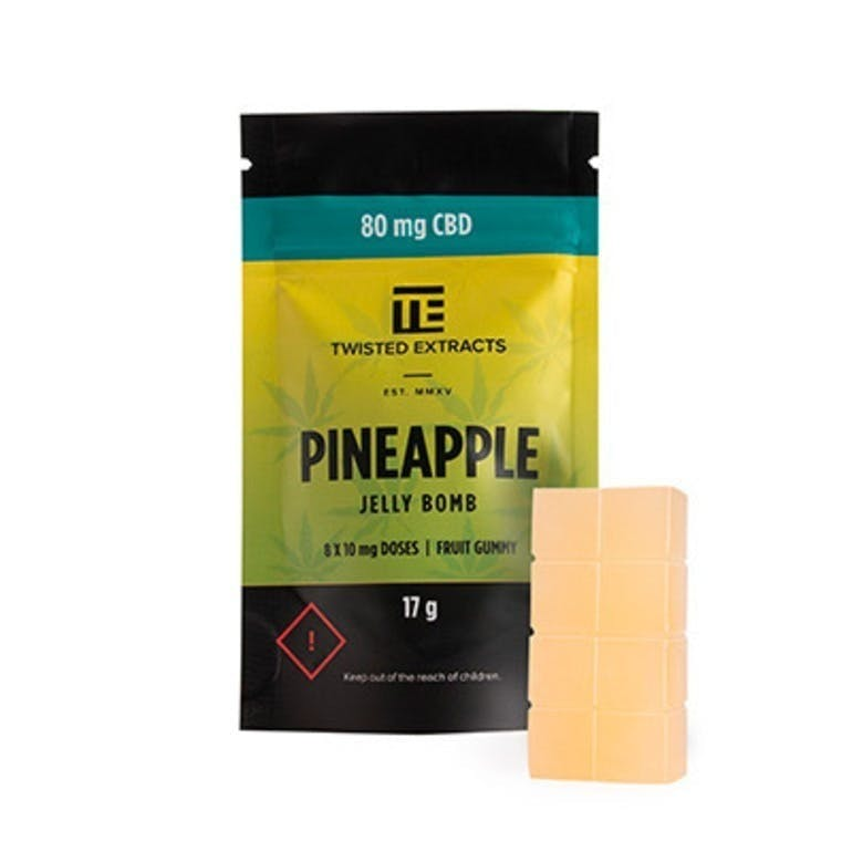 Pineapple CBD Jelly Bomb
