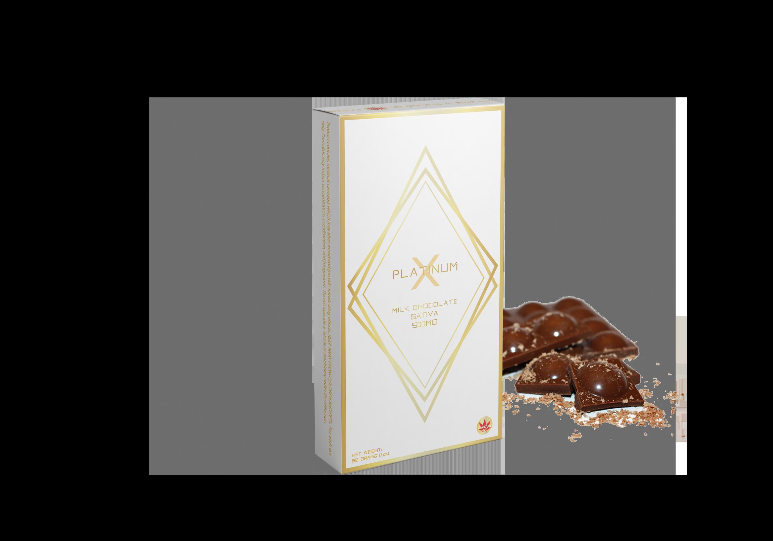 MILK CHOCOLATE 500MG SATIVA - PlatinumX