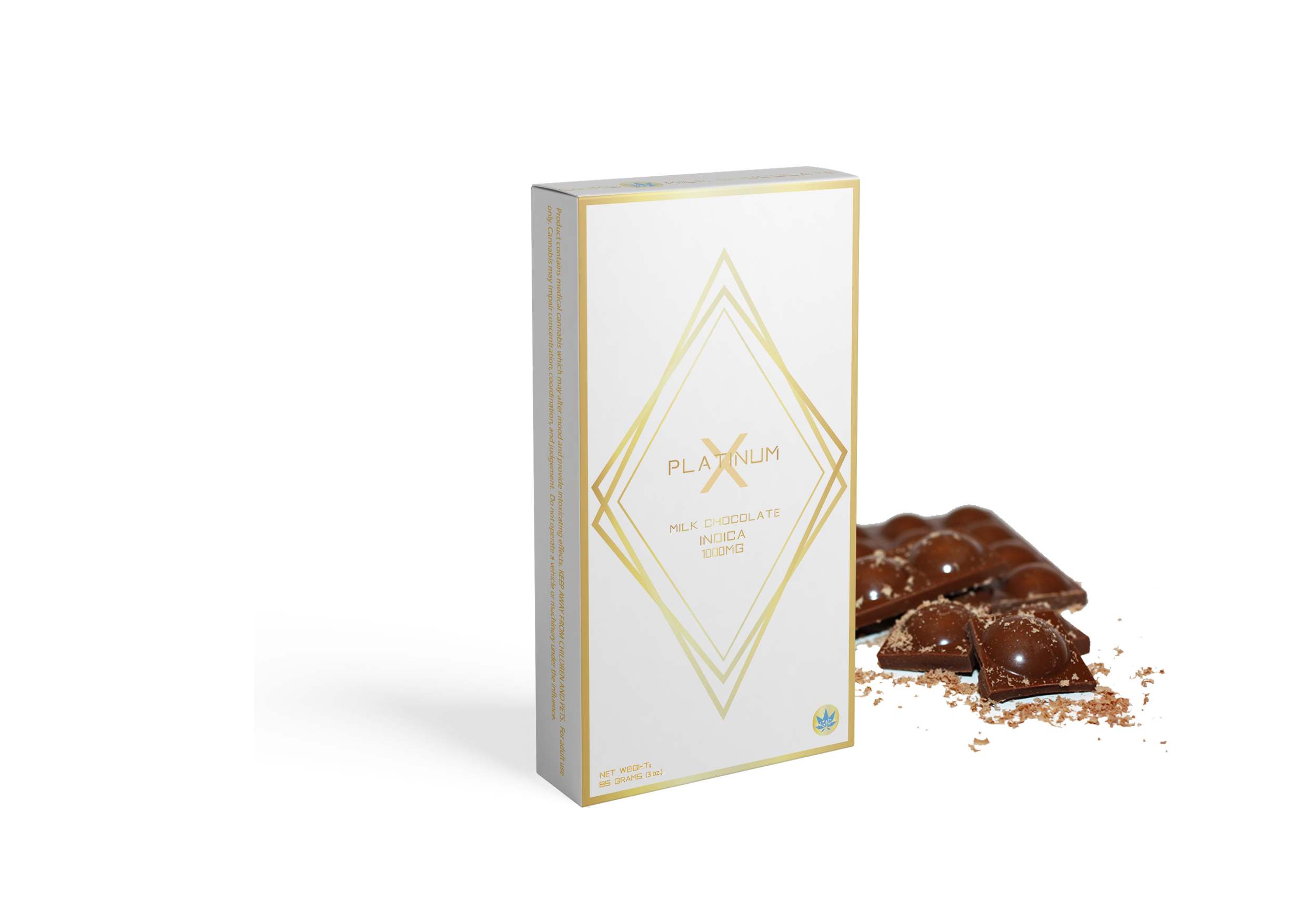 MILK CHOCOLATE 1000MG INDICA- PlatinumX