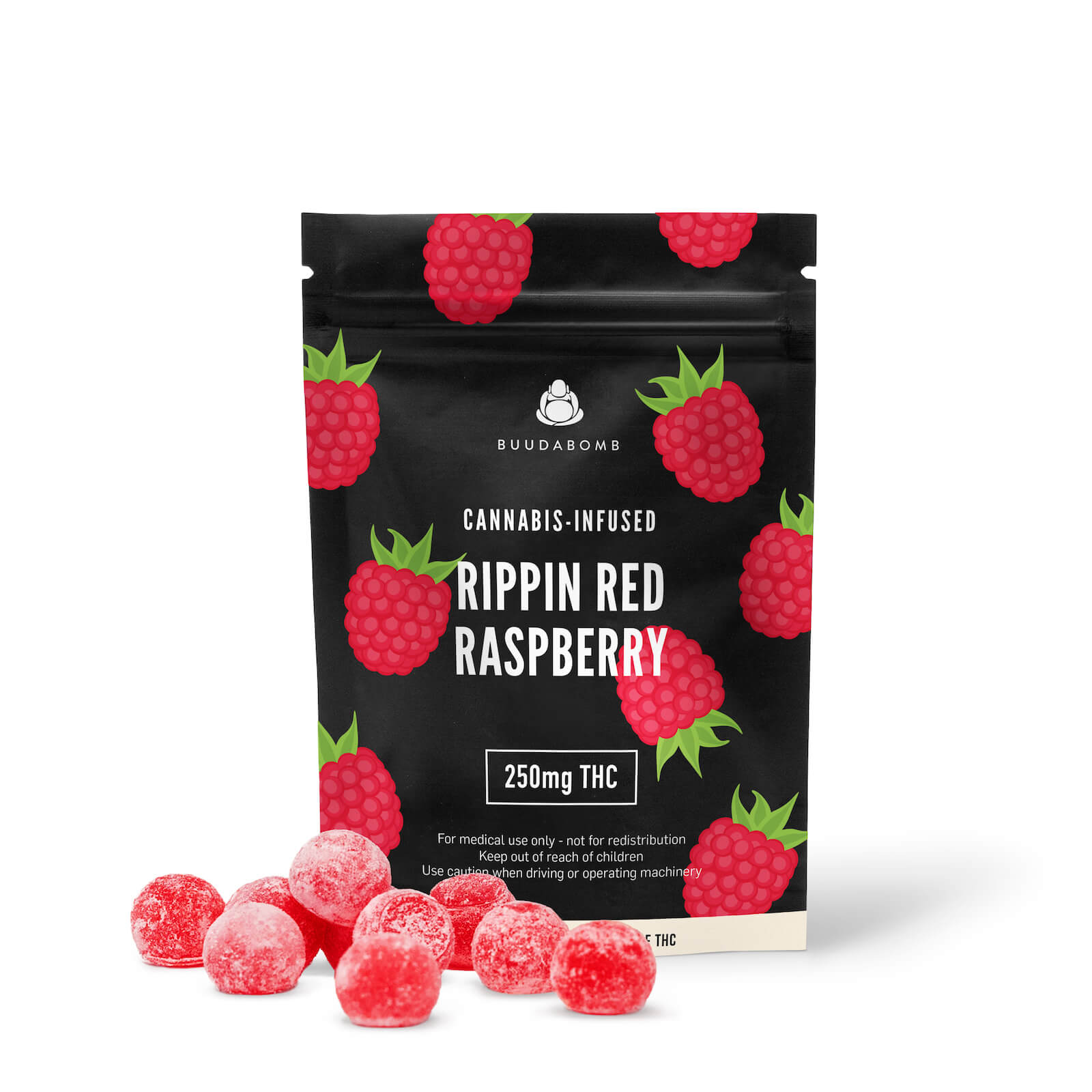 RIPPIN RED RASPBERRY 250mg - Buudabomb